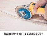 finishing works   the tiler... | Shutterstock . vector #1116839039