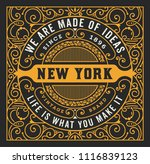 old label design with floral... | Shutterstock .eps vector #1116839123