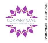 abstract symmetry circle logo....   Shutterstock .eps vector #1116840938