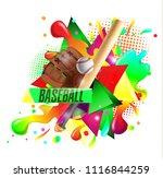 baseball poster with a baseball....   Shutterstock .eps vector #1116844259