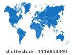 color world map vector | Shutterstock .eps vector #1116853340