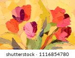 floral background. oil painting ... | Shutterstock . vector #1116854780