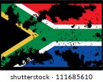 dirty south africa flag... | Shutterstock .eps vector #111685610