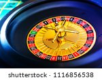 casino playing roulette on... | Shutterstock . vector #1116856538