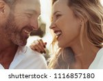 close up of cheerful man and... | Shutterstock . vector #1116857180