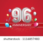 96th anniversary design red... | Shutterstock .eps vector #1116857483