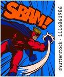 pop art vintage comics style... | Shutterstock .eps vector #1116861986