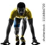one caucasian man runner... | Shutterstock . vector #1116866720