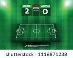football field or soccer field... | Shutterstock .eps vector #1116871238