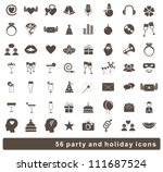 set of 56 holidays and party... | Shutterstock .eps vector #111687524