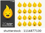 fire flame emoji line icons in... | Shutterstock .eps vector #1116877130