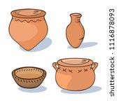 neolithic ceramics set  vector... | Shutterstock .eps vector #1116878093