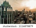 downtown austin sunset on 5th... | Shutterstock . vector #1116878879
