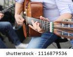 jazz guitar player   Shutterstock . vector #1116879536