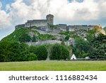 castle of lourdes in the... | Shutterstock . vector #1116882434