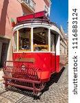 tram in lisbon  | Shutterstock . vector #1116883124