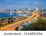 skyline of capital city luanda  ... | Shutterstock . vector #1116891356