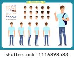 standing young boy. male... | Shutterstock .eps vector #1116898583