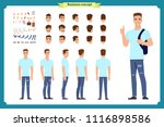standing young boy. male... | Shutterstock .eps vector #1116898586