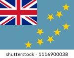 flag of tuvalu | Shutterstock .eps vector #1116900038