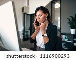 serious business conversation.... | Shutterstock . vector #1116900293