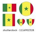 senegal flags set | Shutterstock .eps vector #1116902528