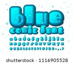 stylish blue comic font on... | Shutterstock .eps vector #1116905528
