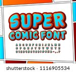 super blue red comic font on... | Shutterstock .eps vector #1116905534