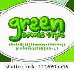 rich green comic font on comics ... | Shutterstock .eps vector #1116905546