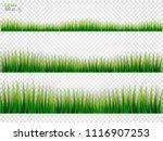 grass borders set. on a... | Shutterstock .eps vector #1116907253