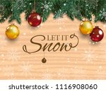 christmas card with detailed... | Shutterstock . vector #1116908060
