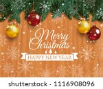 christmas card with detailed... | Shutterstock . vector #1116908096