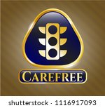 gold badge or emblem with... | Shutterstock .eps vector #1116917093