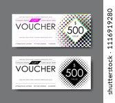 gift voucher template  vector   Shutterstock .eps vector #1116919280