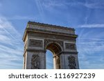 the arc de triomphe de l' toile | Shutterstock . vector #1116927239