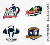 tennis table or pingpong ... | Shutterstock .eps vector #1116927356