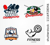tennis table or pingpong ... | Shutterstock .eps vector #1116928046