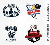 tennis table or pingpong ... | Shutterstock .eps vector #1116928073