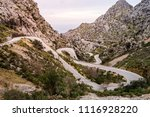 serpentine road direction sa... | Shutterstock . vector #1116928220