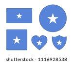 somalia flags set | Shutterstock .eps vector #1116928538