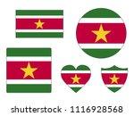 suriname flags set | Shutterstock .eps vector #1116928568