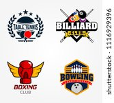 tennis table or pingpong ... | Shutterstock .eps vector #1116929396