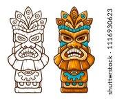 tiki traditional hawaiian... | Shutterstock .eps vector #1116930623