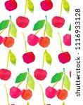 cherry mix seamless pattern....   Shutterstock .eps vector #1116933128