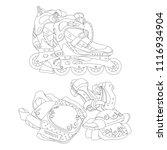 set of line art vector roller...   Shutterstock .eps vector #1116934904