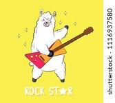 cute cartoon llama  doodle... | Shutterstock .eps vector #1116937580