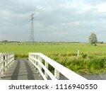 white bridge  bolsward ... | Shutterstock . vector #1116940550
