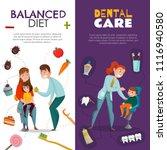 vertical pediatric dentistry... | Shutterstock .eps vector #1116940580