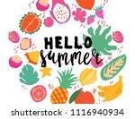minimal summer trendy vector... | Shutterstock .eps vector #1116940934