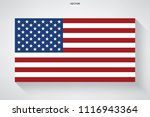 abstract american flag with... | Shutterstock .eps vector #1116943364
